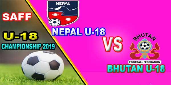 Nepal U18 vs Bhutan U18 Live