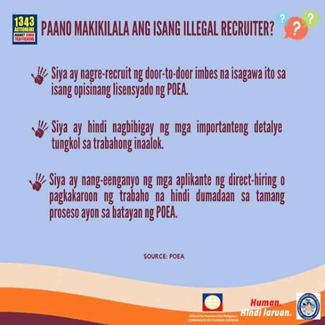 paano makikilala ang isang illegal recruiter pilipinas.bid
