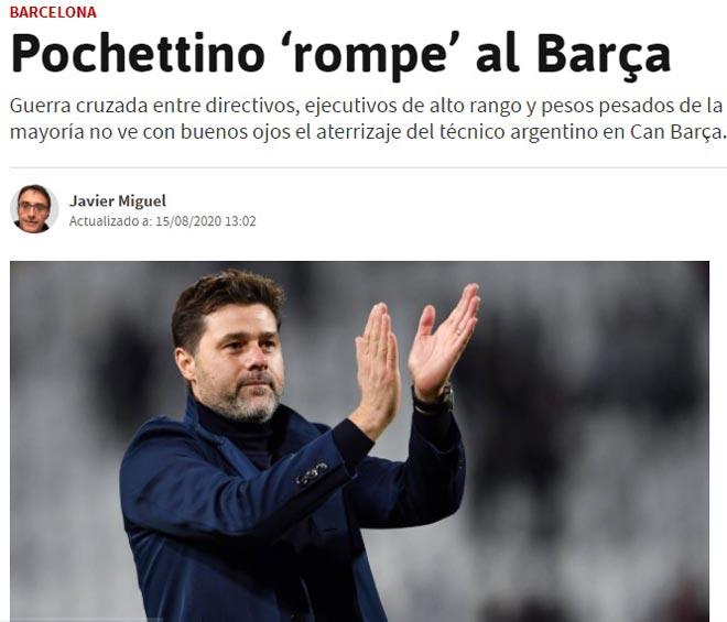 """Báo Tây Ban Nha dọa """"Pochettino sẽ phá nát Barca, bom nổ chậm ở Nou Camp"""" 2"""