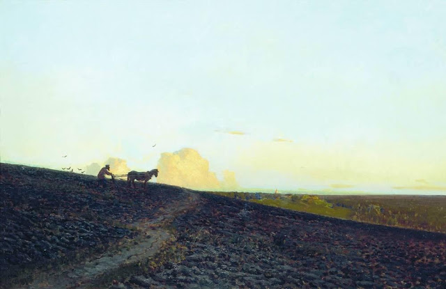 Исаак Ильич Левитан - Вечер на пашне. 1883
