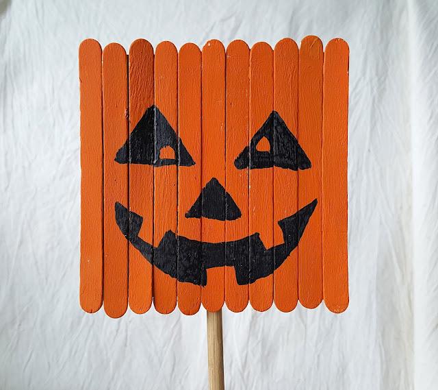 из палочек от мороженого, осенние поделки, с детьми, хеллоуин