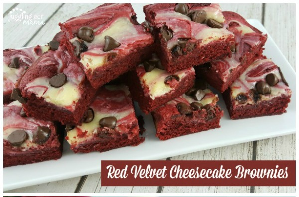 Red Velvet Cheesecake Brownies from Juggling Act Mama