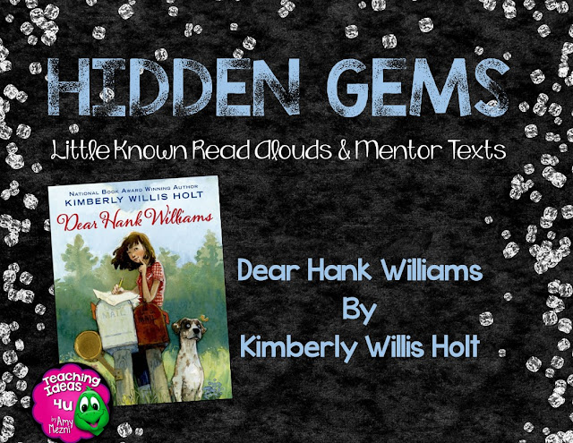 Dear Hank Williams is a Hidden Gem of a book set during the 1940s. Post discusses how to teach the novel in an upper elementary class. Students (and teachers!) will be shocked by the stories surprise twist!