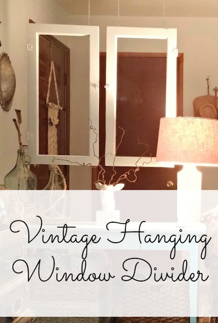 Make a hanging room divider with old windows