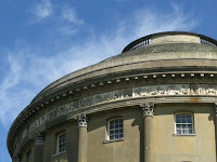Part of Ickworth House against a summer sky