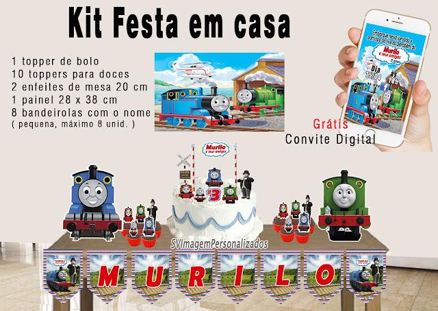 Thomas e seus Amigos Dica para festa  personalizados kit festa em casa