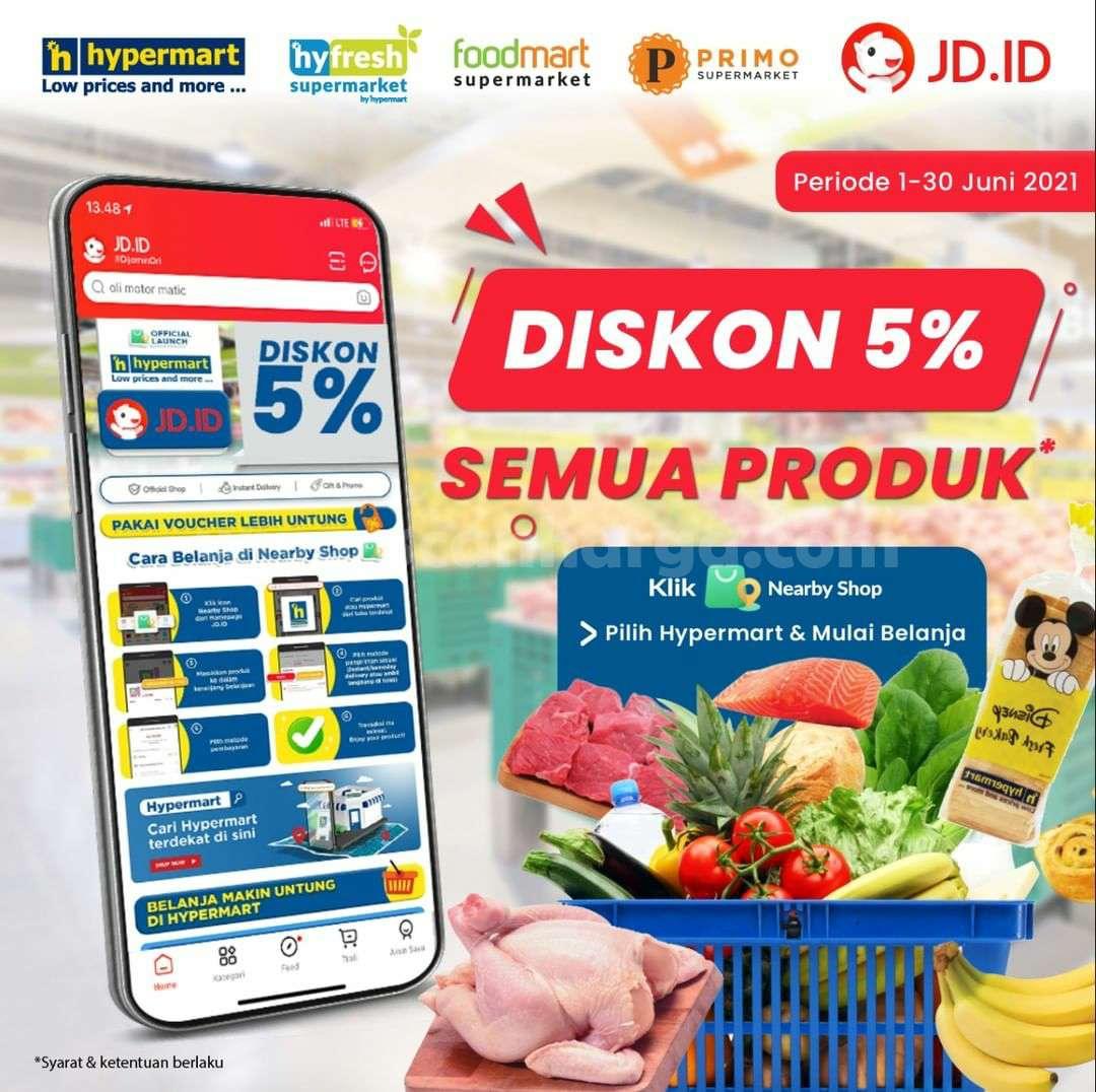 Promo Hypermart Diskon 5% Belanja online via JD.ID