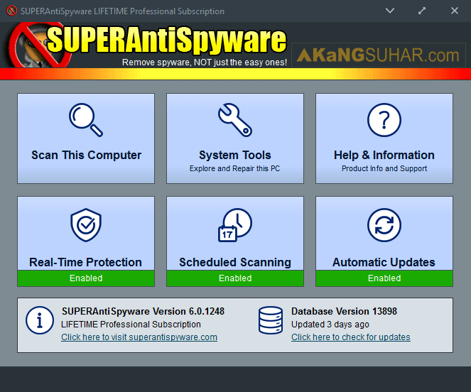 Free Download SUPERAntiSpyware Professional Final Full Version, SUPERAntiSpyware Professional Lifetime License, SUPERAntiSpyware Professional Plus Serial Number