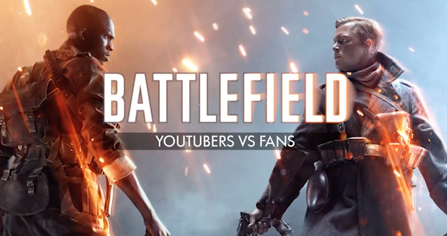 No te pierdas la gran batalla de Youtubers vs Fans de Battlefield 1 celebrada en la Barcelona Games World