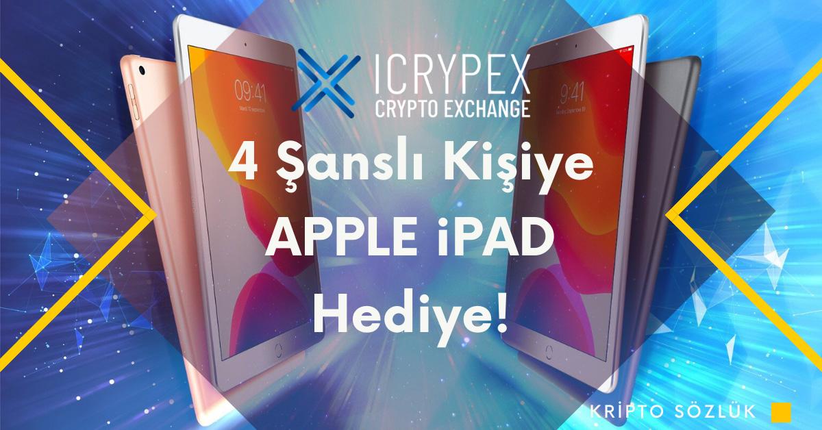 Icrypex 4 Şanslı Kişiye iPAD Hediye Ediyor