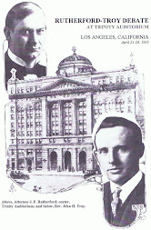 The Rutherford - Troy Debate (1915 Trinity Auditorium)