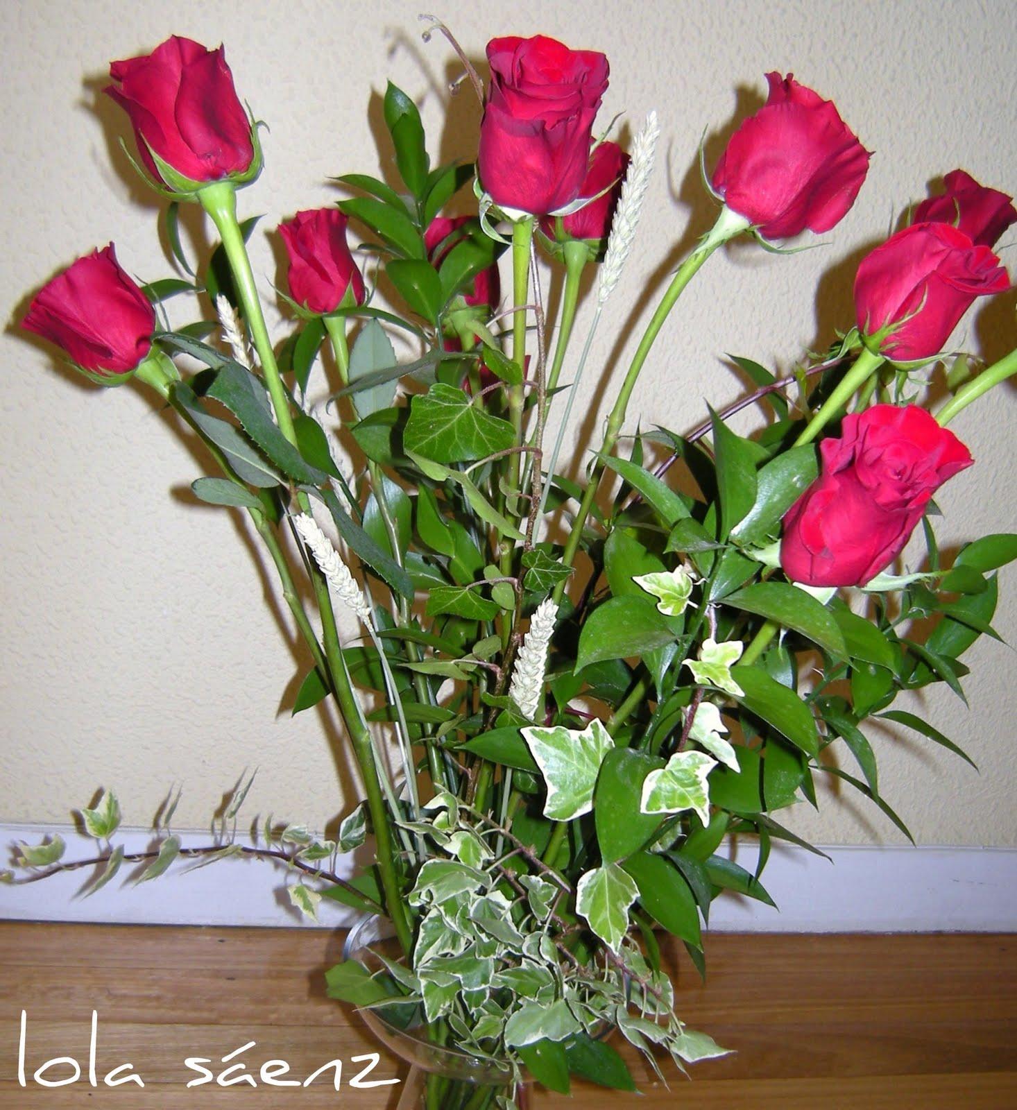 Flores Naturales Rosas Rojas