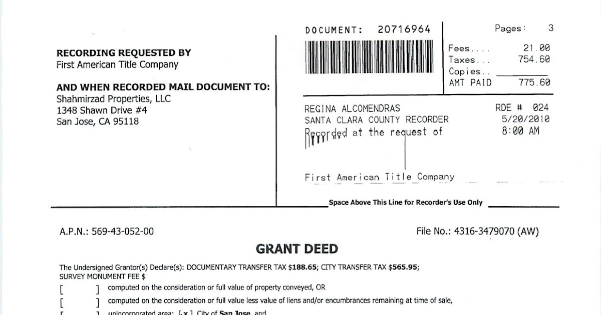 Estate Planning in California Grant Deed - For a Valuable