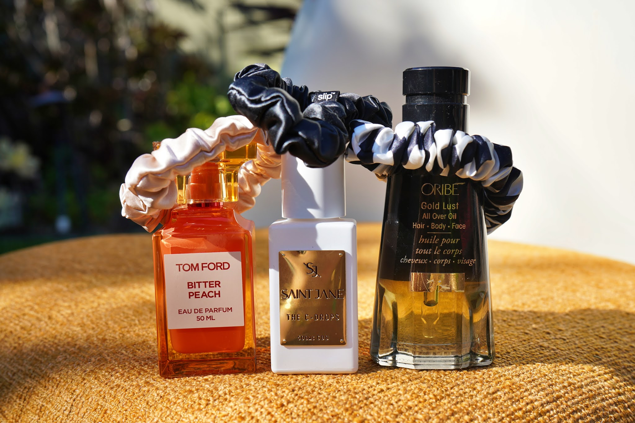 perfume and hair products with scrunchies from Beautylish Gift Card