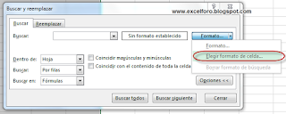 Buscar en Excel por formato.