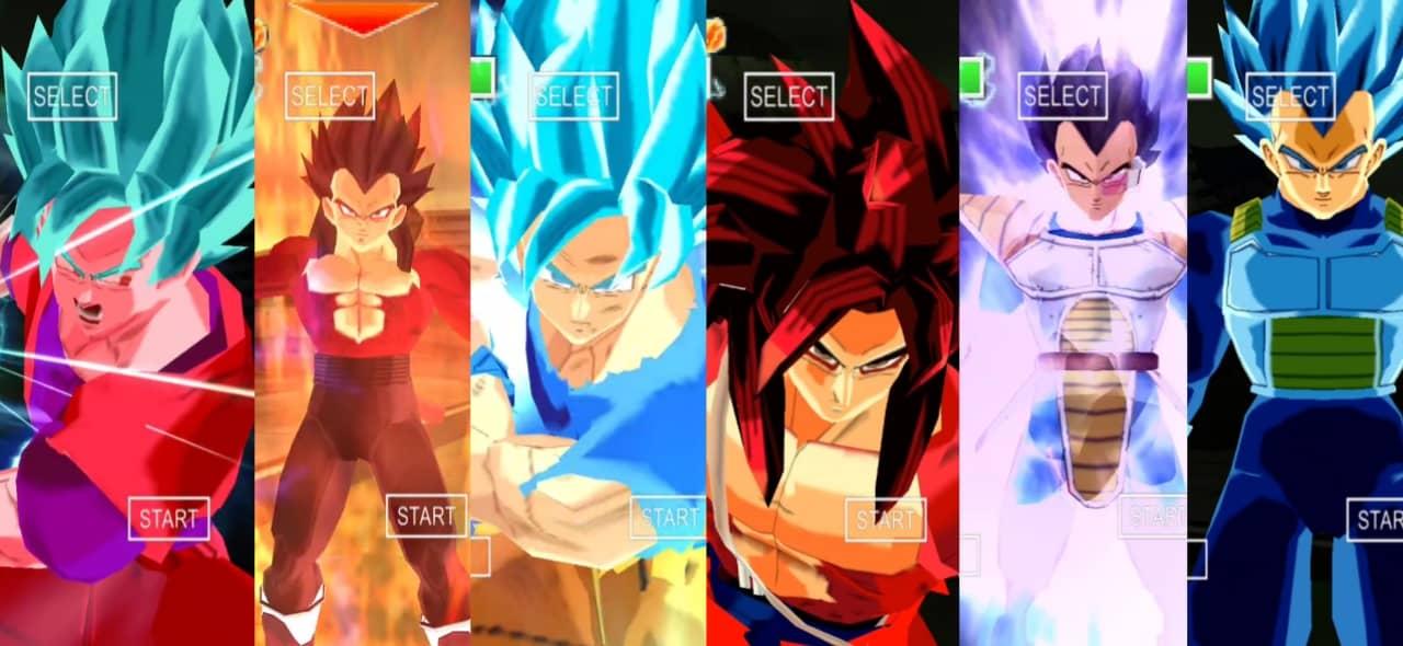 Goku and Vegeta all Sagas in DBZ TTT Mod