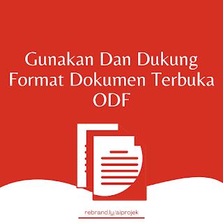 cover Gunakan Dan Dukung Format Dokumen Terbuka ODF