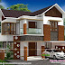 Mixed roof 3 BHK house in 1600 sq-ft