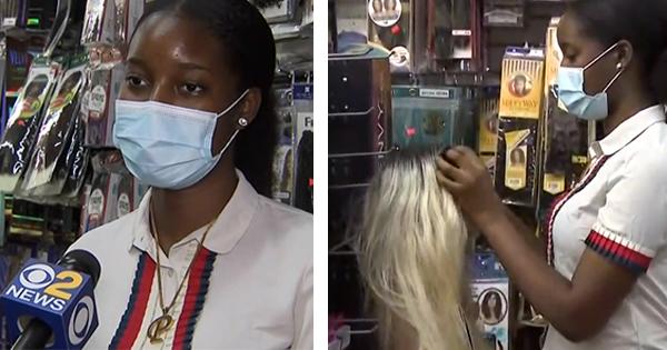 Paris McKenzie, owner of Beauty Supplyz in Brooklyn
