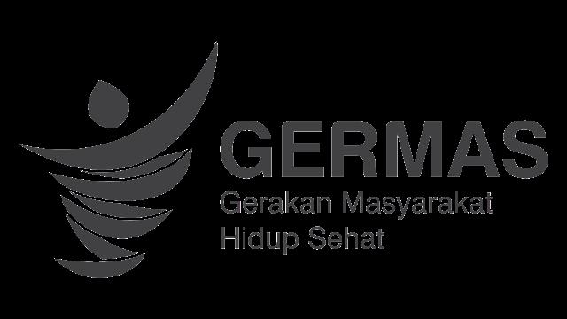 logo germas hitam putih