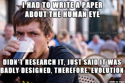 Evolutionists blindly parrot the ignorant claim that the human eye is poorly designed. People who actually know about the eye show that our Creator designed the eye quite well, thank you.