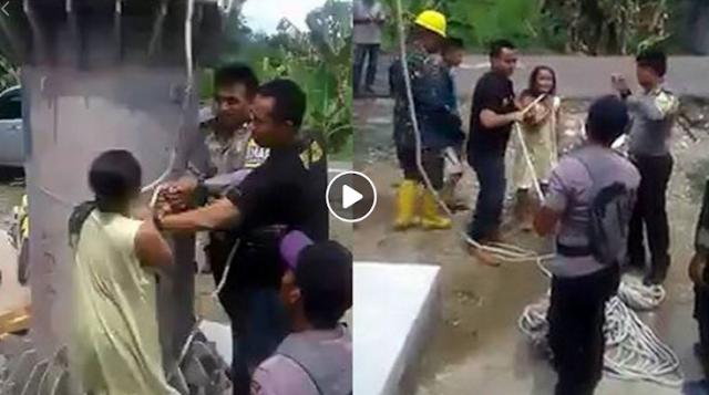 Video Seorang Ibu Lawan Anggota TNI Yang Hendak Memasang Tower Didepan Rumahnya