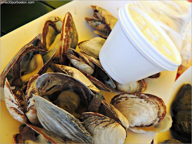 Almejas de Thurston's Lobster Pound en Maine