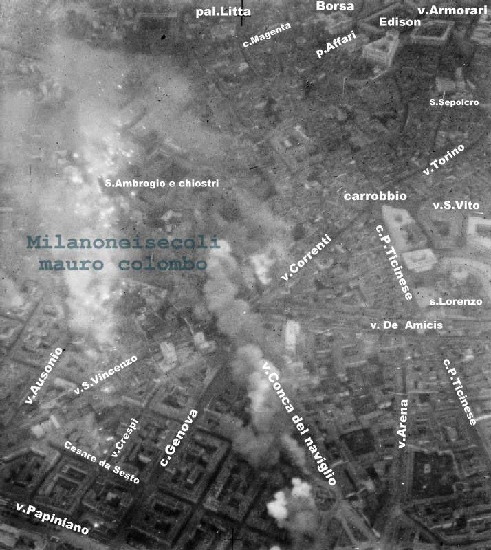 WWII milano guerra bombardamenti RAF bomber command