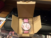 Pink Women's Leather Analog Quartz Watch Campaign #Aposon