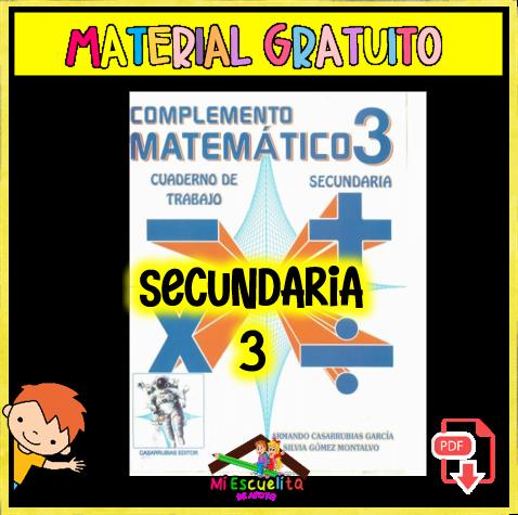 MATERMATICAS 3 SECUNDARIA