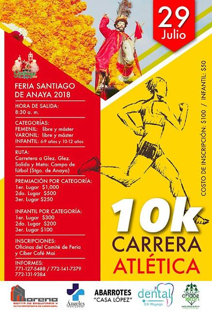 carrera atlética feria santiago de anaya 2018