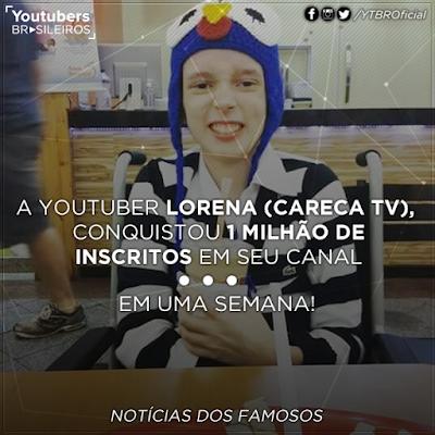 canal careca tv hackeado lorena um milhão inscritos