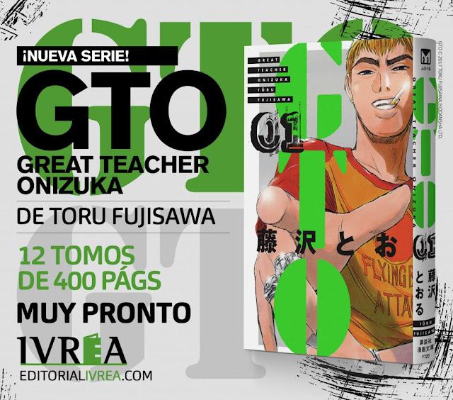 Ivrea publicará GTO (Great Teacher Onizuka) de Toru Fujisawa.