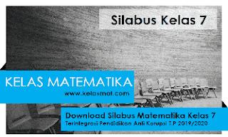 Download Silabus Matematika Kelas 7 Terintegrasi Anti Korupsi 2019/2020