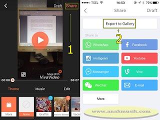 Cara Memotong dan Menggabungkan Video di VivaVideo