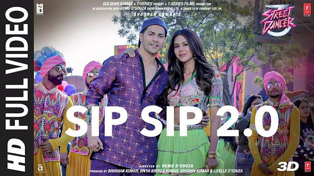 Sip Sip 2.0 Lyrics - Street Dancer 3D | Garry Sandhu, Jasmine Sandlas