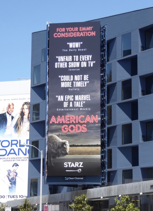 American Gods season 1 Emmy billboard