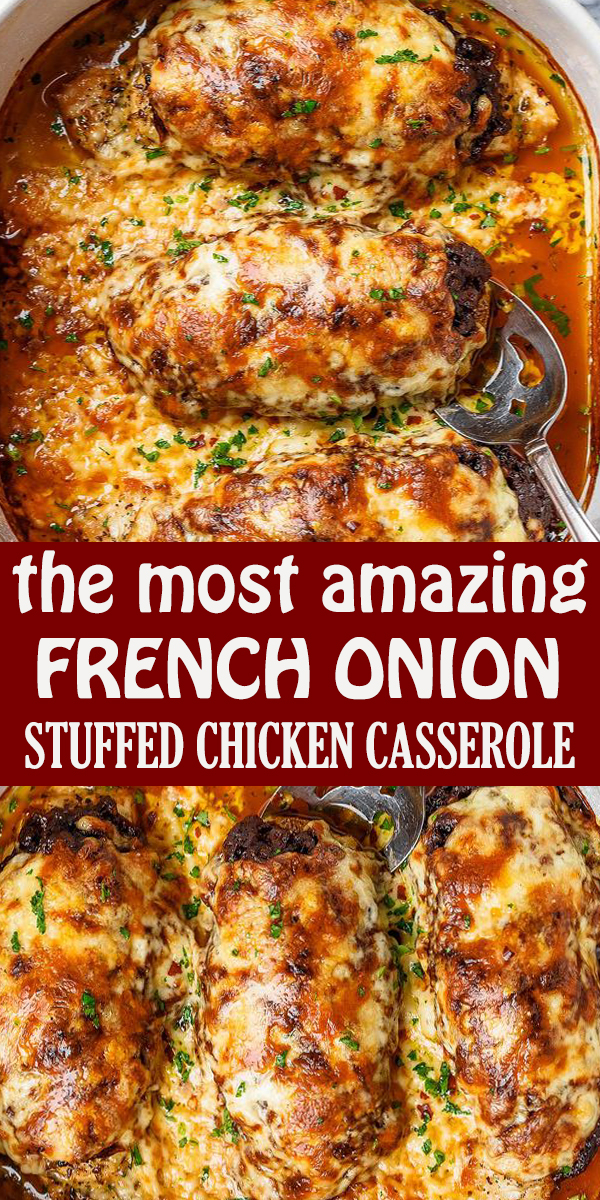 FRENCH ONION STUFFED CHICKEN CASSEROLE#keto #lowcarb - #recipe #FRENCH #ONION #STUFFED #CHICKEN #CASSEROLE #FRENCHONIONSTUFFEDCHICKENCASSEROLE