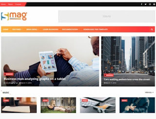 Smag SEO friendly blogger template