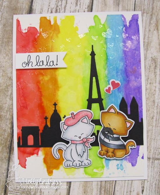 Oh La La Card by Holly Endress | | Newton Dreams of Paris Stamp Set by Newton's Nook Designs #newtonsnook #handmade