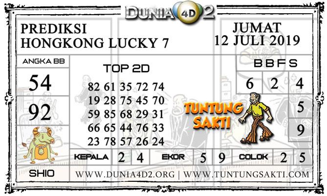 "Prediksi Togel ""HONGKONG LUCKY 7"" DUNIA4D2 12 JULI 2019"