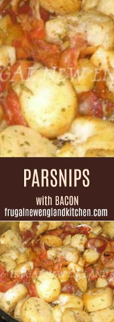 Parsnip Casserole Dish with Bacon