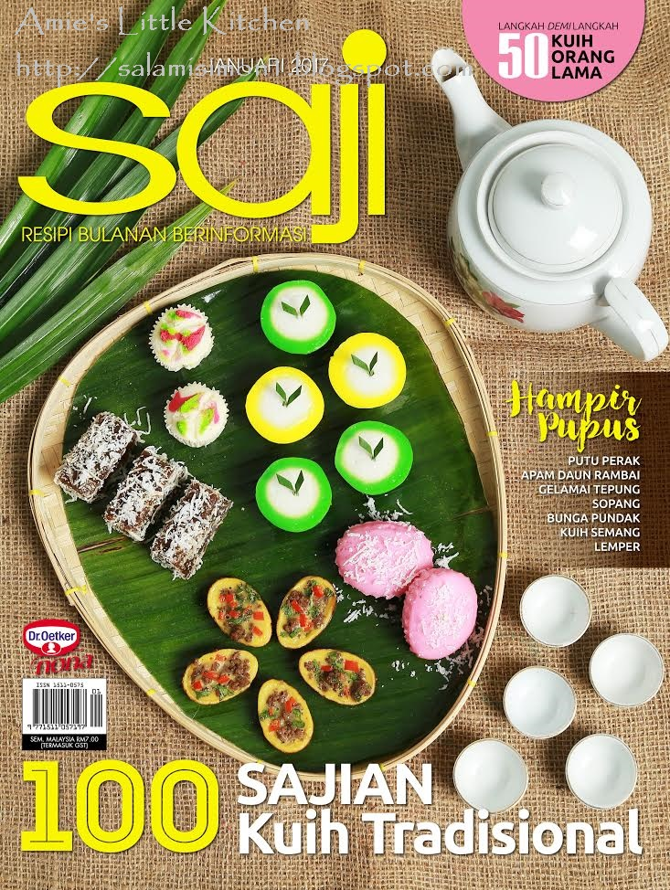 RESEPI AMIE'S LITTLE KITCHEN DI MAJALAH SAJI EDISI JANUARI 2017
