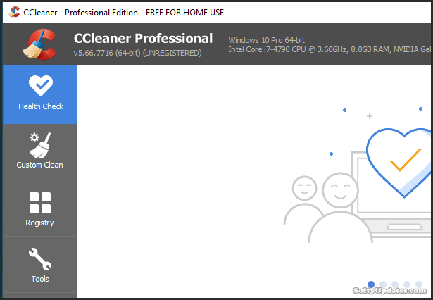 Manage your PC by CCleaner