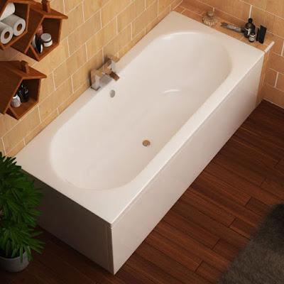 small round bathtub