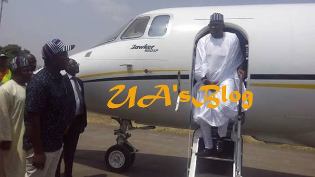 Moment Governor Fayose Arrived Benue State On A Jet To Console Ortom After Herdsmen Killed His People