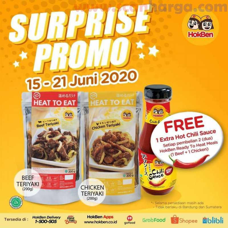 Promo Hokben Terbaru Surprise Promo Periode 15 - 21 Juni 2020
