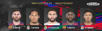PES 2019 Minifacepack vol 3 by Messi Pradeep
