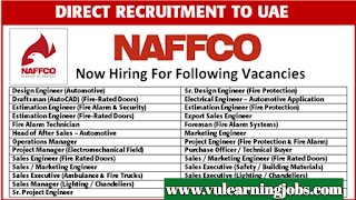 National Fire Fighting Manufacturing FZCO - Jobs In Dubai
