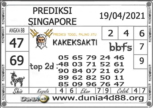 Prediksi Togel SINGAPORE DUNIA4D 19 APRIL 2021